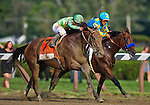 August 29, 2015 : Keen Ice, ridden by Javier Castellano upsets Triple Crown winner American Pharoah, ridden by Victor Espinoza, to win the Travers Stakes on Travers Stakes Day in Saratoga Springs, NY. Scott Serio/ESW/CSM