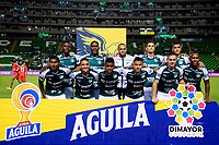 PALMIRA - COLOMBIA, 28-09-2019: Jugadores del Cali posan para una foto previo al partido entre Deportivo Cali y Patriotas Boyacá por la fecha 13 de la Liga Águila I 2019 jugado en el estadio Deportivo Cali de la ciudad de Palmira. / Players of Cali pose to a photo prior match as part Aguila League I 2019 between Deportivo Cali and Patriotas Boyaca played at Deportivo Cali stadium in Palmira city.  Photo: VizzorImage / Nelson Rios / Cont