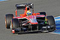 Formule 1: Test  Jerez 06/02/2013.LUIS RAZIA (BRE) MARUSSIA F1 TEAM ACTION .Jerez 06/02/2013 .Formula 1 2013 Test.Foto Gilles Levent / Panoramic / Insidefoto .ITALY ONLY