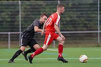 Marvin Wiesenaecker (Büttelborn) gegen Yannik Brehm (Geinsheim) - Büttelborn 03.10.2021: SKV Büttelborn vs. SV 07 Geinsheim, Gruppenliga