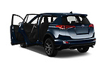 Car images close up view of a 2018 Toyota RAV4 Black edition Hybride 5 Door SUV doors