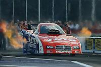 Apr. 27, 2012; Baytown, TX, USA: NHRA funny car driver Johnny Gray during qualifying for the Spring Nationals at Royal Purple Raceway. Mandatory Credit: Mark J. Rebilas-