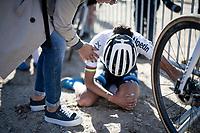 European Champion Ceylin Del Carmen Alvarado (NED/Alpecin - Fenix) succesfully dug deep finishing 3rd in her first race back after injury.<br /> <br /> Elite Women's Race<br /> 2021 UCI cyclo-cross World Cup - Zonhoven (BEL)<br /> <br /> ©kramon