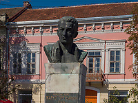 Büste im Ruski park, Vrsac, Vojvodina, Serbien, Europa<br /> Bust in Ruski Park, Vrsac, Vojvodina, Serbia, Europe
