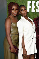 "Ronke Adekoluejo and Michaela Coel<br /> arriving for the London Film Festival screening of ""Been so Long"" at the Cineworld Leicester Square, London<br /> <br /> ©Ash Knotek  D3439  12/10/2018"