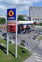 Tankstelle in Kaunas, Litauen, Europa