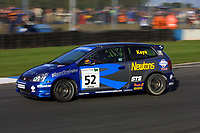Round 10 of the British Touring Car Championship. #52 James Kaye (GBR). Synchro Motorsport. Honda Civic Type-R.