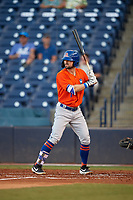 St. Lucie Mets Quinn Brodey (1) at bat during a Florida State League game against the Tampa Tarpons on April 10, 2019 at George M. Steinbrenner Field in Tampa, Florida.  St. Lucie defeated Tampa 4-3.  (Mike Janes/Four Seam Images)