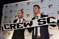 Philadelphia, PA - Friday January 19, 2018: Graigg Berhalter, Ben Lundgaard during the 2018 MLS SuperDraft at the Pennsylvania Convention Center.