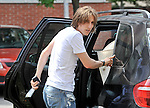 EXCLUSIVE PICTURES 12.05.2010., Zagreb, Croatia - Luka Modric, footballer who plays for Tottenham Hotspur, and his pregnant bride Vanja Bosnic are going to the restaurant to celebrate their yesterday's wedding. They got married at a registry office, but they are not wearing rings. .Foto © nph / Lukunic