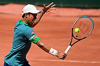 30th May 2021; Roland Garros, Paris, France; French Open Tennis championships, day 1;  Kei Nishikori jpn