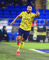 28th September 2021; Cardiff City Stadium, Cardiff, Wales;  EFL Championship football, Cardiff versus West Bromwich Albion; Matt Phillips of West Bromwich Albion celebrates after scoring his sides fourth goal in the 82nd minute to make it 0-4