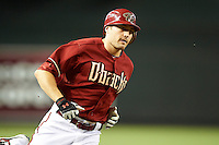 Arizona Diamondbacks outfielder A.J. Pollock #11 rounds third after hitting a home run during a National League regular season game against the Colorado Rockies at Chase Field on October 3, 2012 in Phoenix, Arizona. Colorado defeated Arizona 2-1. (Mike Janes/Four Seam Images)