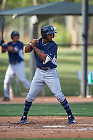 AZL Padres 2 Junior Perez (16) at bat during an Arizona League game against the AZL White Sox on June 29, 2019 at Camelback Ranch in Glendale, Arizona. The AZL Padres 2 defeated the AZL White Sox 7-3. (Zachary Lucy/Four Seam Images)