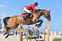 MIAMI BEACH, FL - APRIL 07: Ben Maher at the Longines Global Champions Tour stop day 3 in Miami Beach on April 7, 2018 in Miami Beach, Florida<br /> <br /> People:  Ben Maher