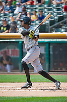 Jose Martinez (30) of the Omaha Storm Chasers at bat against the Salt Lake Bees in Pacific Coast League action at Smith's Ballpark on August 16, 2015 in Salt Lake City, Utah.Omaha defeated Salt Lake 11-4.  (Stephen Smith/Four Seam Images)