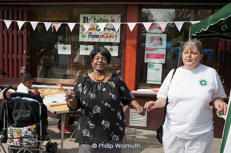 Tell It Parents Action Group street event to launch a drop-in advice service on the Mozart Estate, North Westminster, which has experienced problems with postcode gang violence.