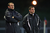Aveley manager Lee Hodges (R) and assistant Jason Broom - AFC Hornchurch vs Aveley - Ryman League Premier Division Football at The Stadium - 17/12/11 - MANDATORY CREDIT: Gavin Ellis/TGSPHOTO - Self billing applies where appropriate - 0845 094 6026 - contact@tgsphoto.co.uk - NO UNPAID USE