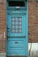 Montreal (Qc) CANADA - File photo taken between 1983 and 1989  - - Montreal east end  door