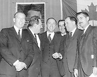 Pierre E. Trudeau after being nominated to represent the riding of Mount Royal, June 6, 1965<br /> <br /> PHOTO :  Lawrytd