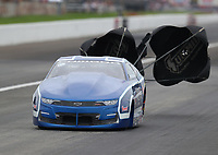 Aug 31, 2019; Clermont, IN, USA; NHRA pro stock driver Fernando Cuadra Jr during qualifying for the US Nationals at Lucas Oil Raceway. Mandatory Credit: Mark J. Rebilas-USA TODAY Sports