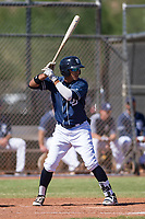 San Diego Padres third baseman Kelvin Melean (4) at bat during an Instructional League game against the Texas Rangers on September 20, 2017 at Peoria Sports Complex in Peoria, Arizona. (Zachary Lucy/Four Seam Images)