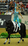 8 October 2010: Lucy Phillips (GBR) performs during the Vaulting Techincals in the World Equestrian Games in Lexington, Kentucky