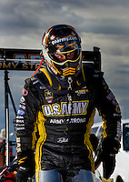 Oct. 31, 2008; Las Vegas, NV, USA: NHRA top fuel dragster driver Tony Schumacher during qualifying for the Las Vegas Nationals at The Strip in Las Vegas. Mandatory Credit: Mark J. Rebilas-