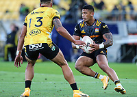 20th March 2021; Wellington, New Zealand;  Chiefs Etene Nanai-Seturo. Super Rugby Aotearoa. Hurricanes v Chiefs. Sky Stadium, Wellington. Saturday 20th March 2021.