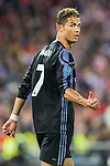 Cristiano Ronaldo of Real Madrid reacts during their 2016-17 UEFA Champions League Semifinals 2nd leg match between Atletico de Madrid and Real Madrid at the Estadio Vicente Calderon on 10 May 2017 in Madrid, Spain. Photo by Diego Gonzalez Souto / Power Sport Images