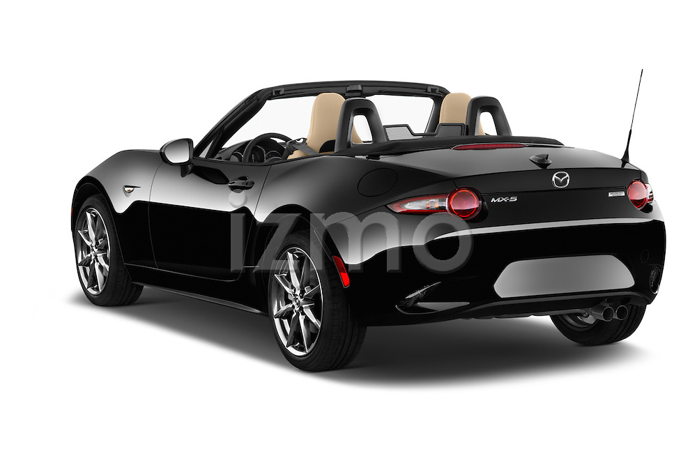 Car pictures of rear three quarter view of 2017 Mazda MX-5 Miata Grand Touring 2 Door Convertible Angular Rear