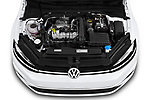 Car stock 2019 Volkswagen Golf S 5 Door Hatchback engine high angle detail view
