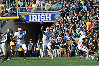 South Bend, IN - OCTOBER 4:  Quarterback Tavita Pritchard #14 of the Stanford Cardinal during Stanford's 28-21 loss against the Notre Dame Fighting Irish on October 4, 2008 at Notre Dame Stadium in South Bend, Indiana.