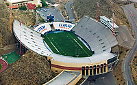 aerial photograph of the Sun Bowl football stadium, University of Texas El Paso, Miners, El Paso, Texas