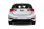 Straight rear view of 2018 Toyota Corolla-iM CVT-Automatic 5 Door Hatchback Rear View  stock images