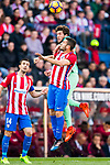 Sergi Roberto Carnicer of FC Barcelona competes for the ball with Jorge Resurreccion Merodio, Koke, of Atletico de Madrid during their La Liga match between Atletico de Madrid and FC Barcelona at the Santiago Bernabeu Stadium on 26 February 2017 in Madrid, Spain. Photo by Diego Gonzalez Souto / Power Sport Images