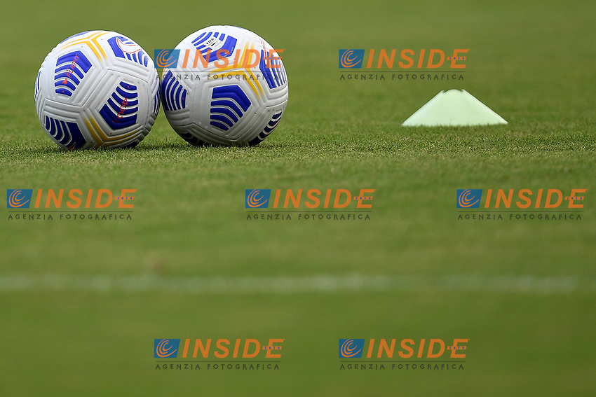 Serie A Nike balls are seen on the pitch during the friendly football match between Frosinone calcio and SS Lazio at Benito Stirpe stadium in Frosinone (Italy), September 12th, 2020. SS Lazio won 1-0 over Frosinone. Photo Andrea Staccioli / Insidefoto