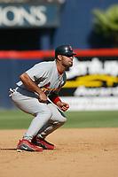 Albert Pujols of the St. Louis Cardinals during a 2003 season MLB game at Qualcomm Stadium in San Diego, California. (Larry Goren/Four Seam Images)