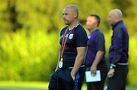 Pictured: The West Brom coach Monday 15 August 2016<br /> Re: Swansea City FC U23 v West Bromwich Albion at Landore training ground, Swansea, Wales, UK