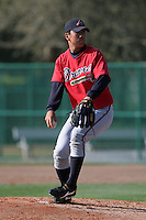 Atlanta Braves minor leaguer Jang Ji Cho during Spring Training at Disney's Wide World of Sports on March 15, 2007 in Orlando, Florida.  (Mike Janes/Four Seam Images)