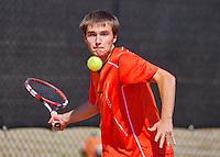 August 9, 2014, Netherlands, Rotterdam, TV Victoria, Tennis, National Junior Championships, NJK,  Guy den Heijer (NED)<br /> Photo: Tennisimages/Henk Koster