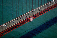 aerial photograph Golden Gate bridge, San Francisco, California