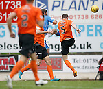 St Johnstone v Dundee United...26.09.15  SPFL   McDiarmid Park, Perth<br /> Simon Lappin scores the winner<br /> Picture by Graeme Hart.<br /> Copyright Perthshire Picture Agency<br /> Tel: 01738 623350  Mobile: 07990 594431