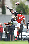 Niall Hurley of Janesboro in action against Tino Nzvaura of Newmarket Celtic during their Munster Junior Cup semi-final at Limerick. Photograph by John Kelly.