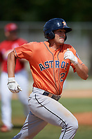 Houston Astros Roman Garcia (23) during a Minor League Spring Training game against the St. Louis Cardinals on March 27, 2018 at the Roger Dean Stadium Complex in Jupiter, Florida.  (Mike Janes/Four Seam Images)