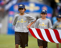 Concacaf Flag bearers.  The United States defeated El Salvador, 5-1, during the quarterfinals of the CONCACAF Gold Cup at M&T Bank Stadium in Baltimore, MD.