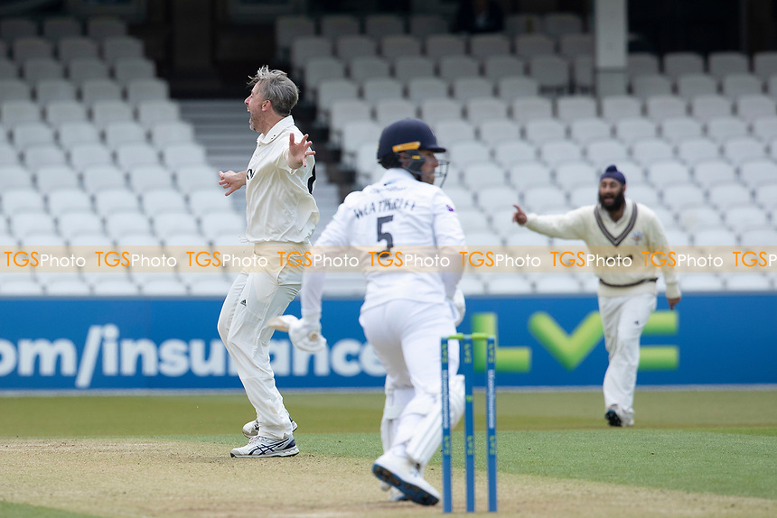 Rikki Clarke, Surrey CCC appeals for the wicket of Joe Weatherley, Hampshire CCC during Surrey CCC vs Hampshire CCC, LV Insurance County Championship Group 2 Cricket at the Kia Oval on 1st May 2021