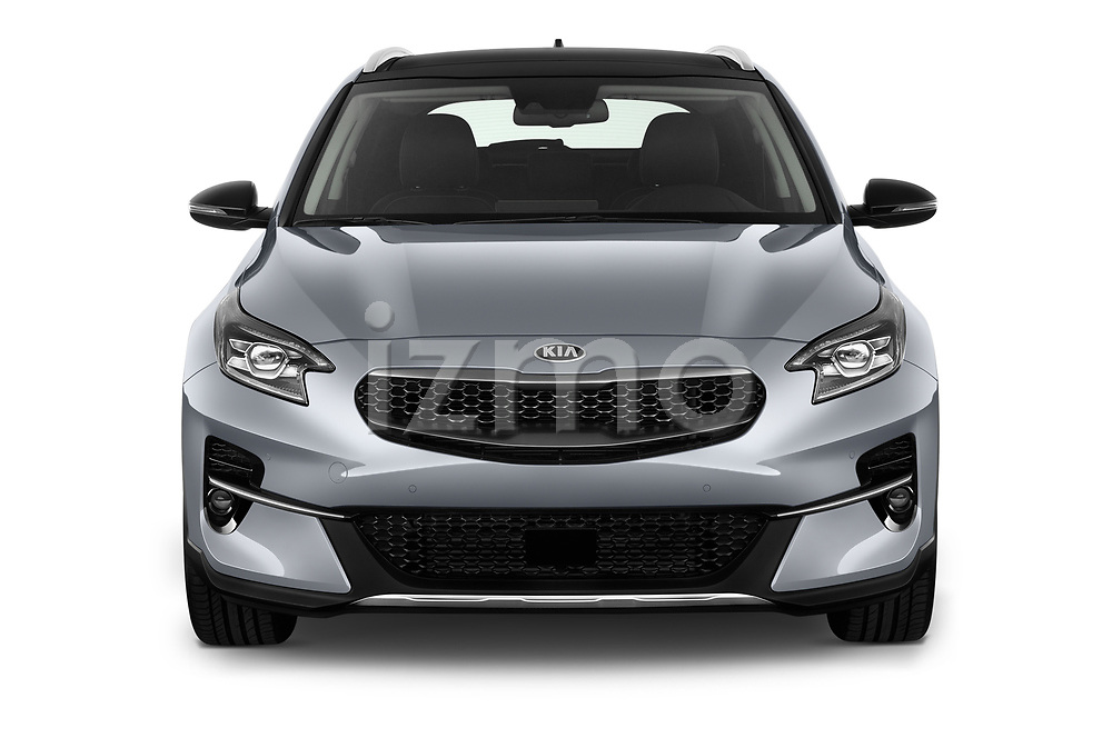 Car photography straight front view of a 2020 KIA XCeed Sense 5 Door SUV Front View