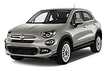 2017 Fiat 500X Lounge 5 Door SUV Angular Front stock photos of front three quarter view