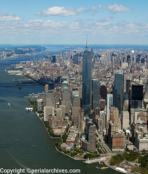aerial photograph One World Trade Center, Lower Manhattan, New York City